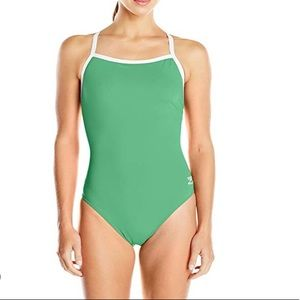 NWT SPEEDO Green Flyback Training One Piece Suit
